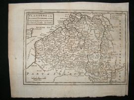 Belgium, Netherlands, Luxembourg: 1711 Antique Map. Moll